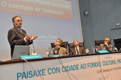 Salvador Andrés Ordax, departamento de Historia da Arte da Universidade de Valladolid - Xornadas sobre Paisaxe con Cidade ao Fondo: Cultura, Patrimonio e Administracion